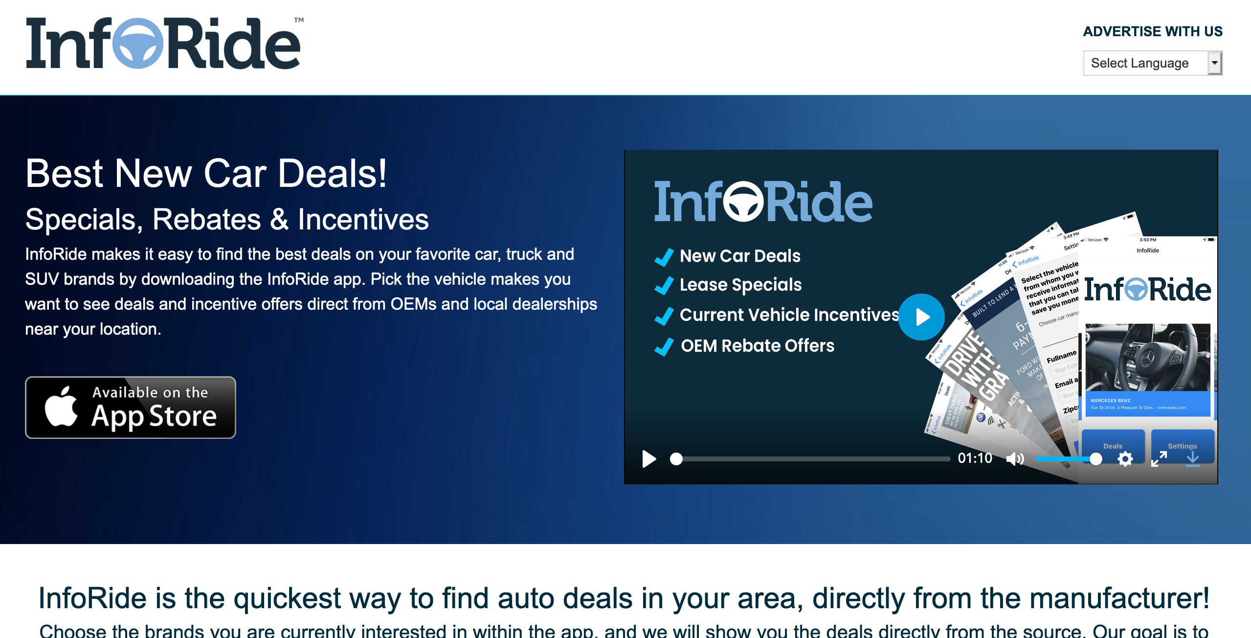 InfoRide™ New Car Deals & Incentives App
